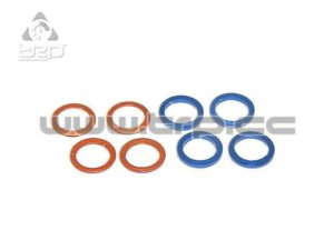 PN Racing Arandelas aluminio M3.4 (Espesor 0.2 y 0.5) 4x2u