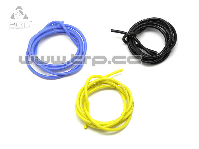 Cables de motor brushless silicona azul negro y amarillo