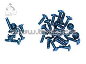 Tornillería completa de Kyosho en color azul MiniZ Overland