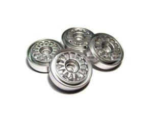 Llantas aluminio color plata Overland Kyosho MiniZ