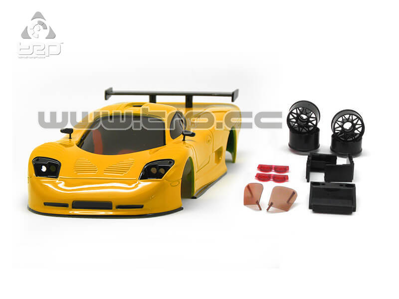 Bodywork TRPscale MiniZ Mosler painted by hand Solid yellow