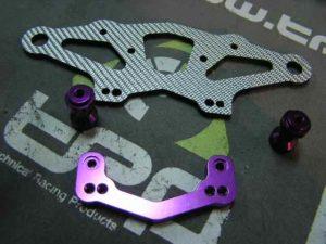 Serpent 710 Bumper frontal en grafito G(PLATA)