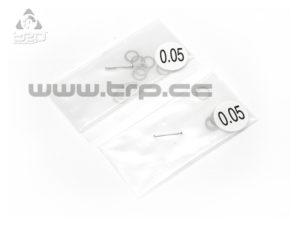 Arandelas de calibración 5.1mm x 6.5mm (espesores de 0.05)