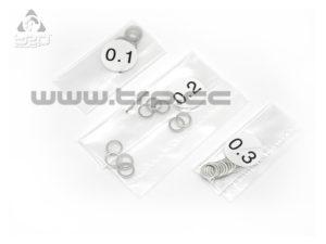 Arandelas de calibración 5.1mm x 6.5mm (espesores de 0.1-0.2-0.3)