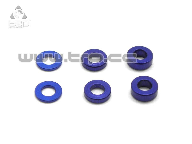 2 x 4 Alum. coller set (0.5/1.0/1.5mm) BLUE