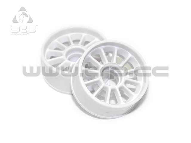 TRPScale MiniZ MR03/MR02 Front Rims Offset +1 (White)