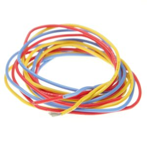 Cable de silicona de 20AGW en colores rojo/amarillo/azul para MIni_Z Brushless (1m)
