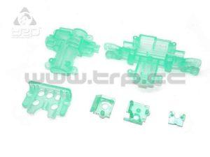 Kyosho MiniZ Monster Caja de servo transparente Verde