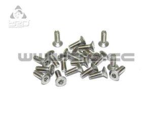 Tornilleria MiniZ (M2x6 20pcs) Conico/Hex/Acero para Aluminio