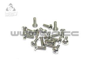 Tornilleria MiniZ (M2x6 20pcs) Button/Hex/Acero para Aluminio