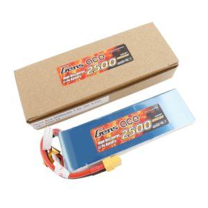 Gens ace Bateria LiPo 2S 7.4V-2500-30C(XT60) 136x42x12mm 150g