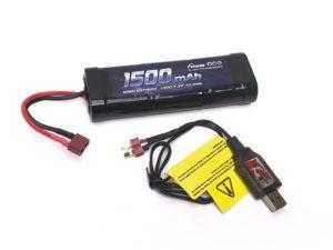 COMBO Cargador USB - Batteria 7.2V (72203D+GE2-1500-1D) Deans