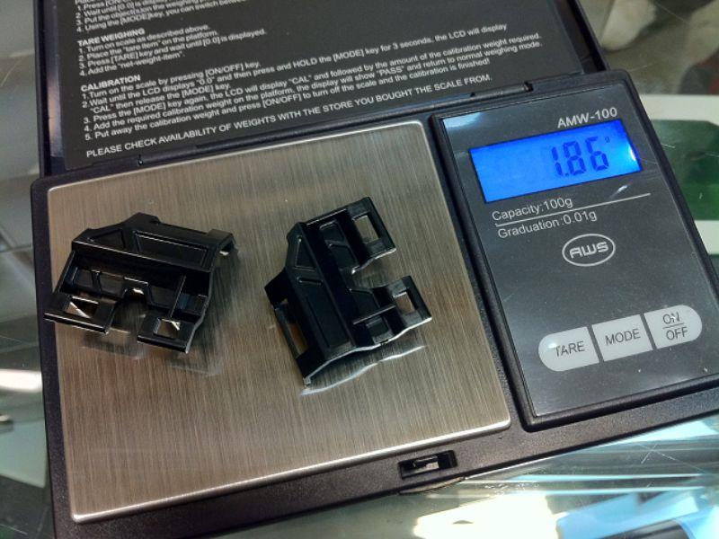 PN Racing clip de baterías refrigerador Aluminio V2 MiniZ MR03