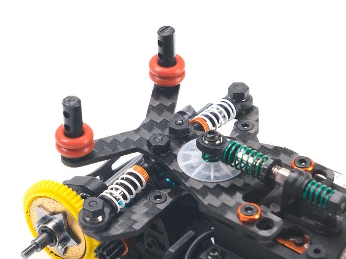 PN Racing Soporte de carbono para postes carrocería traseros