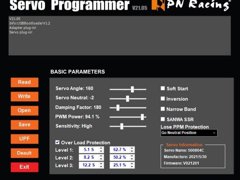 PN Racing Tarjeta Programadora USB para placa Micro servo V4