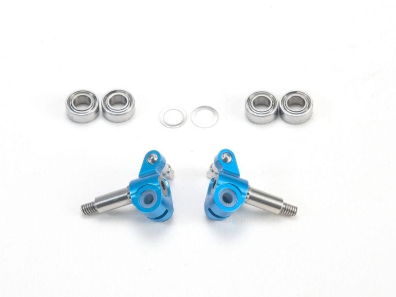 PN Racing Mini-Z MR03 Manguetas cortas con eje ajustable (Azul)