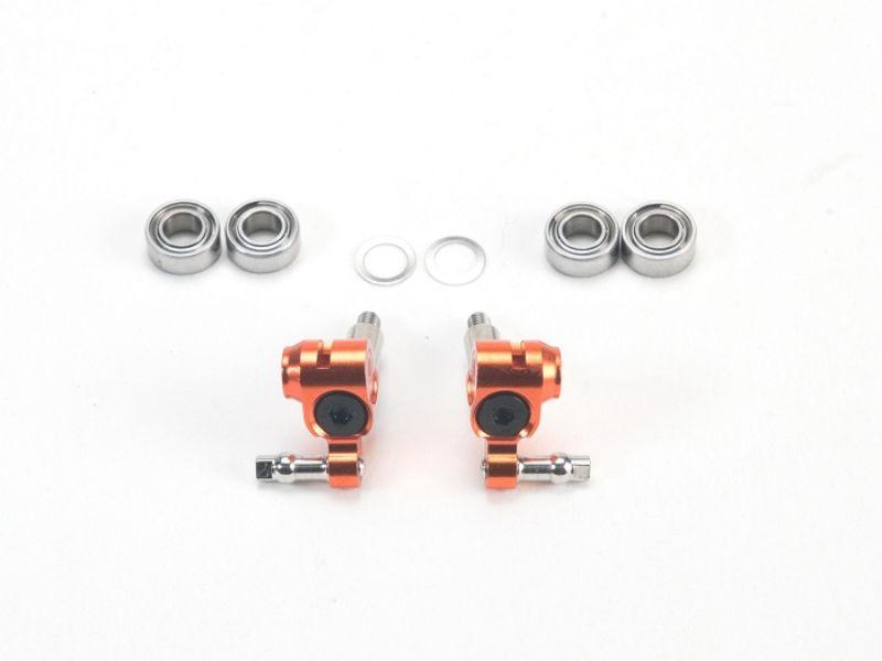 PN Racing Mini-Z MR03 Manguetas cortas con eje ajustable (Naranja)
